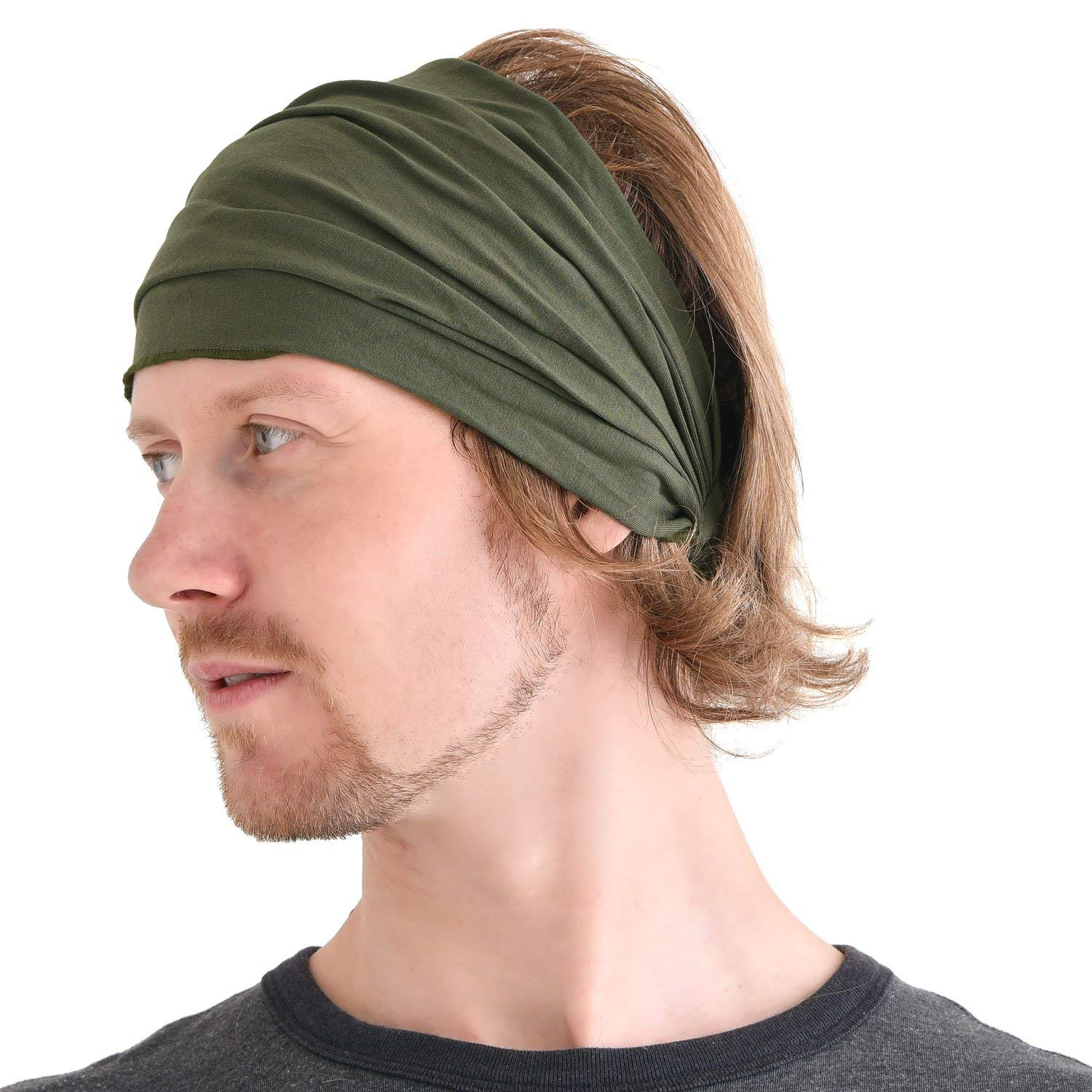 Buy Casualbox mens Head cover Band Bandana Stretch Hair Style ... 8caae7513e8