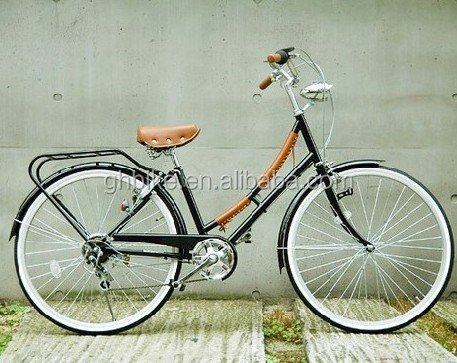 28 inch retro vintage dutch OMA bike Holland city bicycle with front light