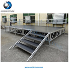 Wholesale Portable Aluminum Stage/ Outdoor Use and Black Color Outdoor Stage Platform