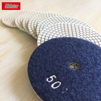 Midstar flexible marble polishing pads hoover back