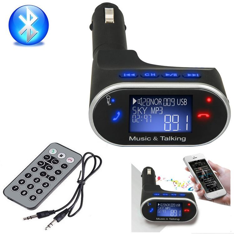 Новые Bluetooth Car Kit mp3-плеер беспроводной FM передатчик модулятор универсальный USB SD TF дистанционного управления Bluetooth свободные руки
