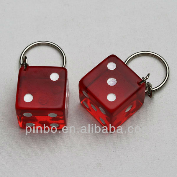 Plastic Dice Holder with Keychain