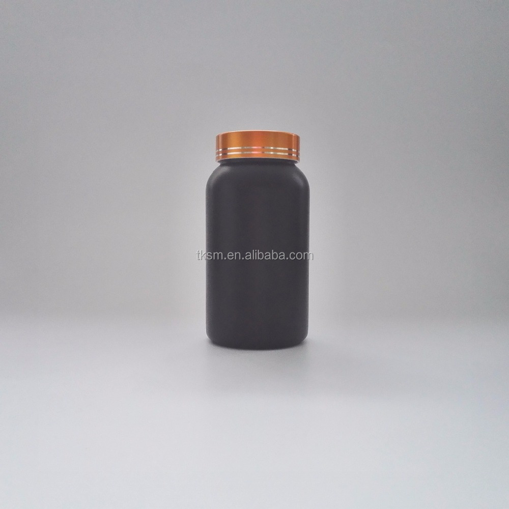 225cc Screw Cap Medicine Black Pill PE plastic bottle