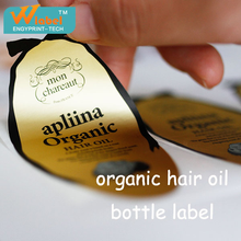 High Quality Custom Self Adhesive Hair Extension Labels, Printing Waterproof Logo Sticker Private Labels