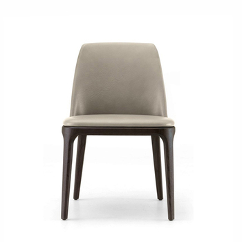 Modern Style Pu Leather Or Fabric Hotel Dining Chair With Solid American Ash Legs /