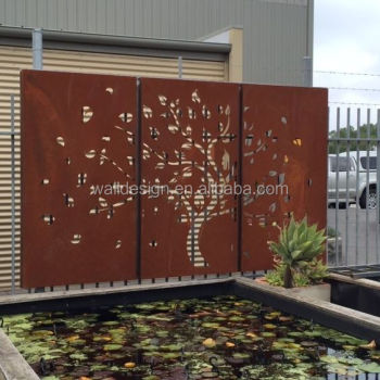Lovely Laser Cut Metal Art Deco Wall Panels For Restaurant Garden Decoration