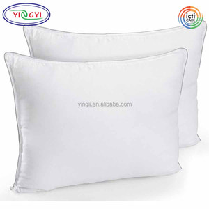 E147 Fiber Polyester Bed Pillows Standard Queen Size Hollow Siliconized Material Filling Standard Size Pillow