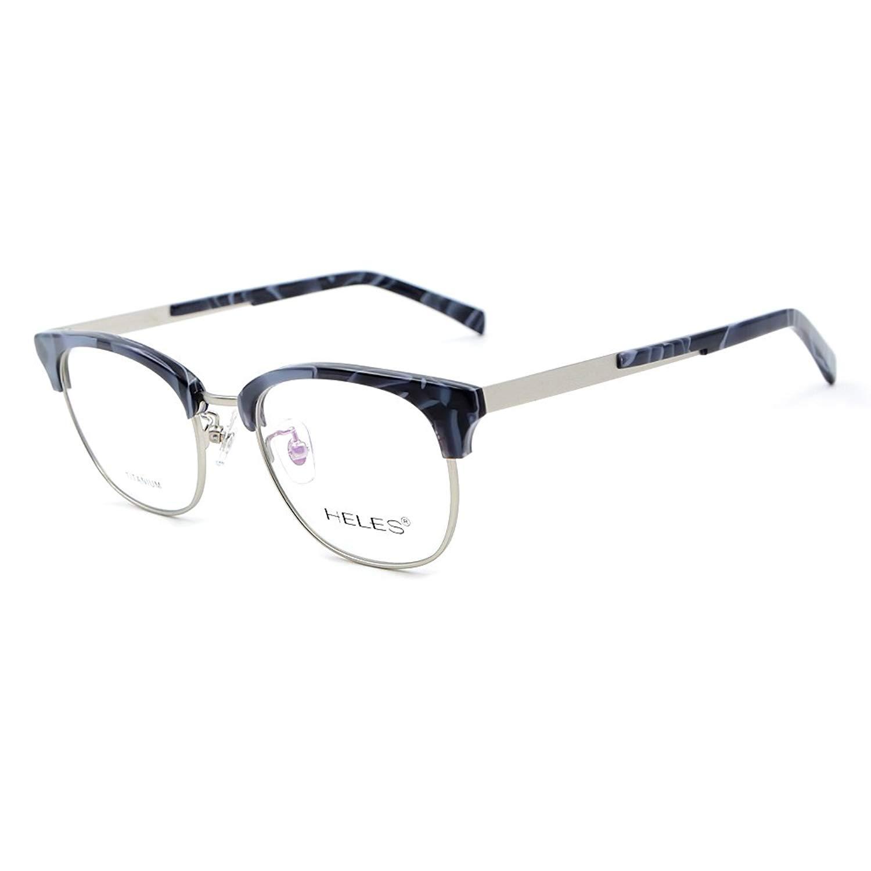 80287172f5 Get Quotations · Men Women s Vintage Classic Eyewear Frame Titanium    Acetate Glasses Frames with demo lens