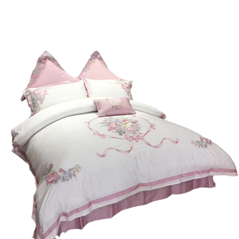 Home Textile Egyptian Cotton Bed Sheets Wholesale Bed Set For 10