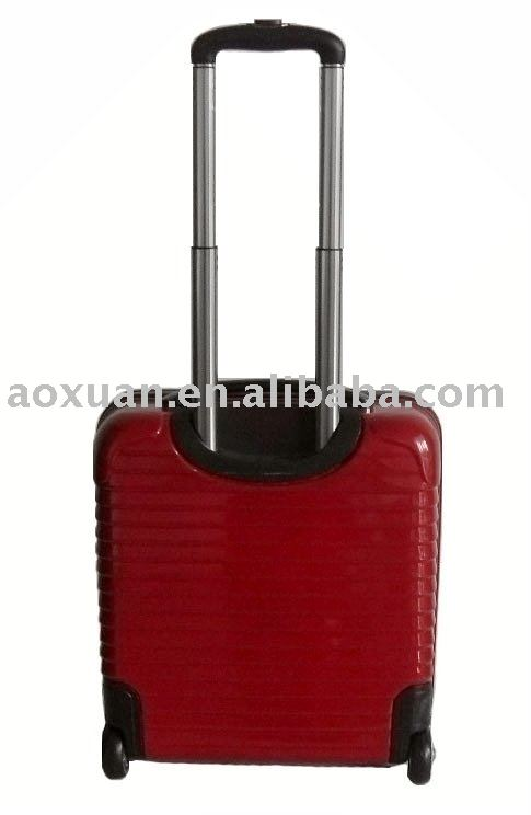 china economic concise red hard shell laptop suitcase