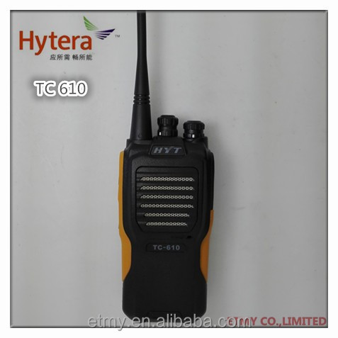 Hot Sale hytera walky talky TC610, 5w interphone two way radio IP66