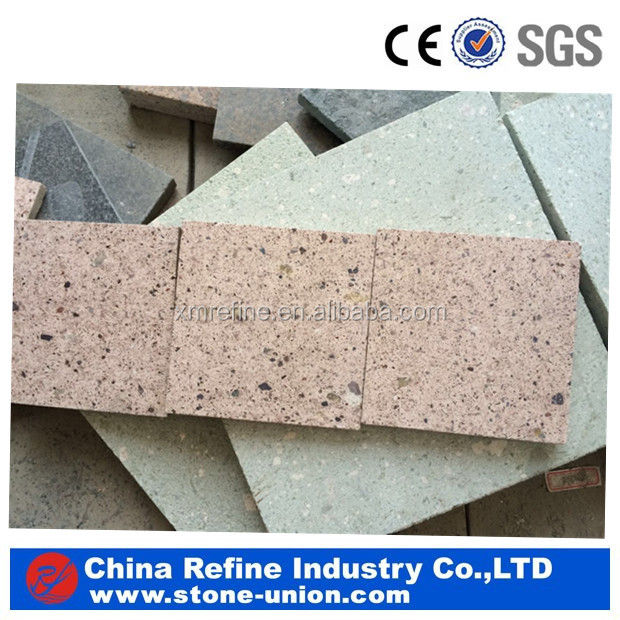 China natural stone Emerald red granite garden tiles