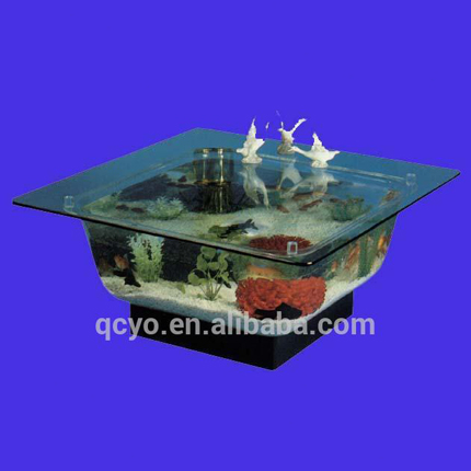 Acrylic Aquarium Acrylic Aquarium Suppliers And Manufacturers At - Acrylic aquariumfish tank clear round coffee table with acrylic