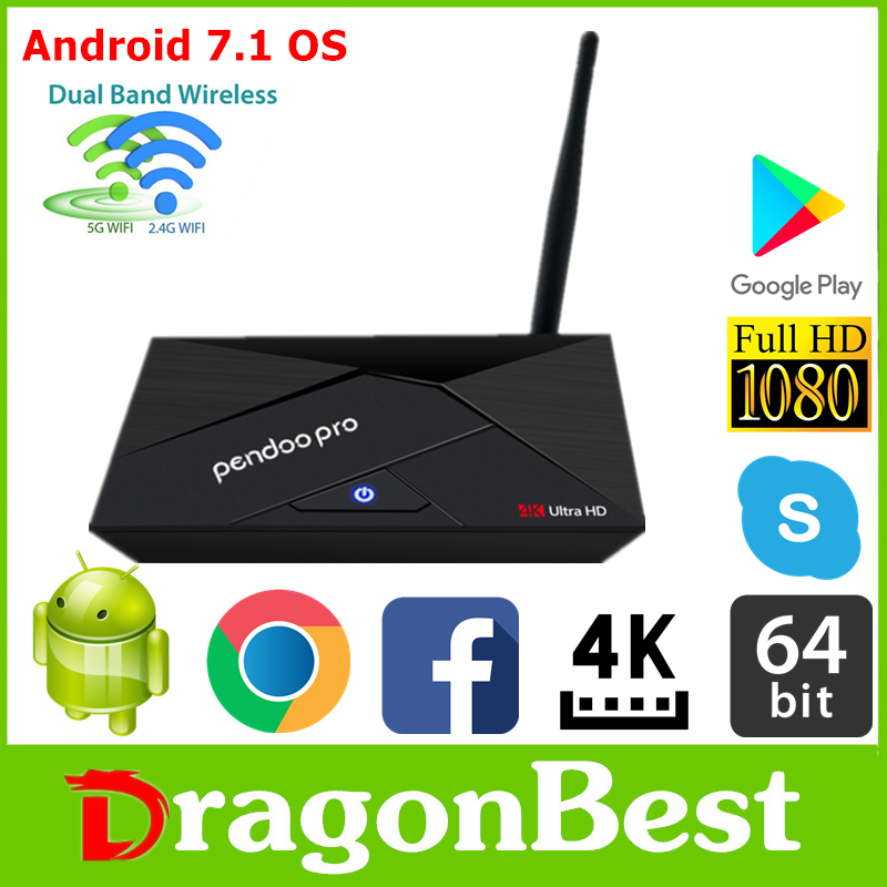 Nuova promozione Pendoo Pro RK3328 2G 16G TV Box set top box iptv per i commerci all'ingrosso Android 7.1 Smart