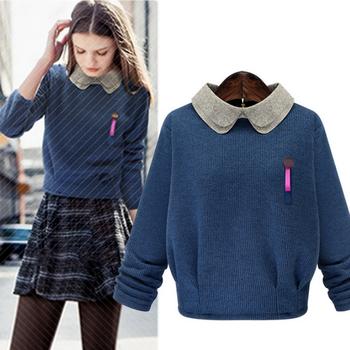 W71552g 2015 Fashion Doll Collar Wool Handmade Sweater Design For ...