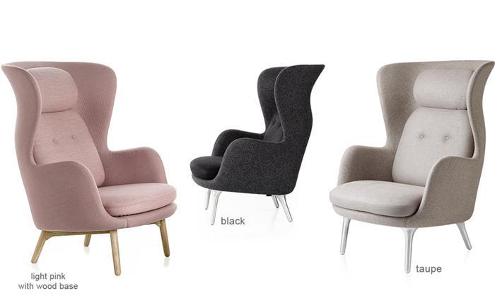 Lounge Stoel Met Voetenbank.Replica Designer Meubelen Retro Fiberglass Hoge Terug Ro Lounge