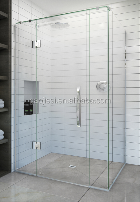Foshan factory UF-128-1200*800 frameless shower enclosure-2m high