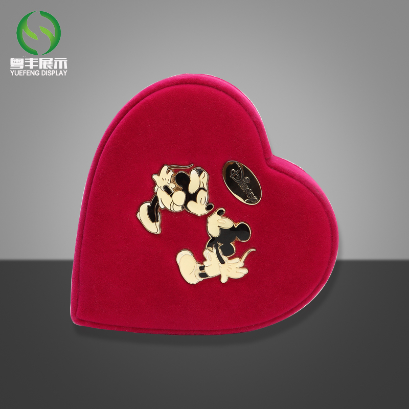 Heart Shaped Acrylic Red Coin Box