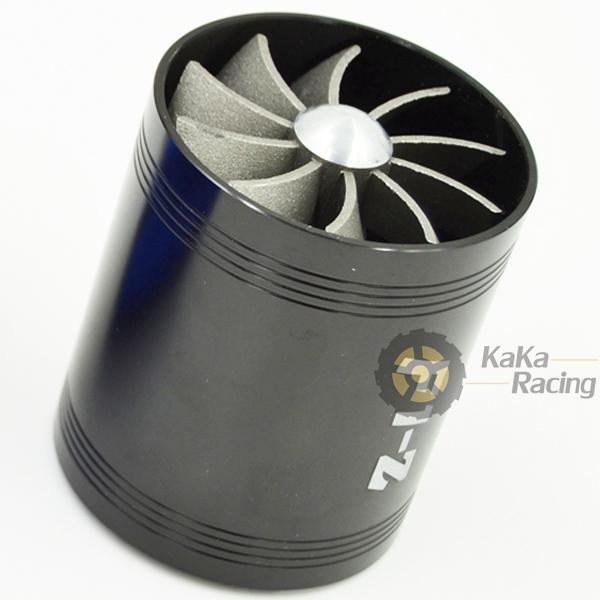 Черный F1-Z универсальный Vehical грузовик автомобиль воздуховходными вентилятора газ экономия топлива дважды винт перегружать турбо