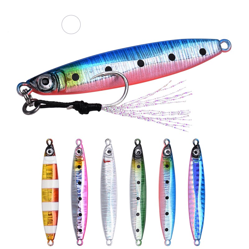 ALLBLUE SNIPER Metal Jig Flat Fall Spoon 18G 35G Shore Slow Cast Jigging Lead Fish Sea Bass Fishing Lure, 6 colors