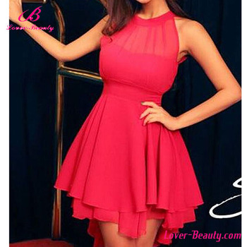 9eee57d5a4e Sweet Red Girl Party Wear Western Dress For Girls Of 18 Years Old ...