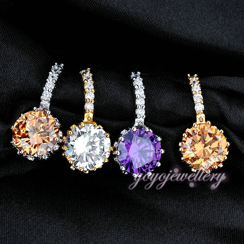 Trendy Gold Earring Single Stone Simple Stud Korea Design
