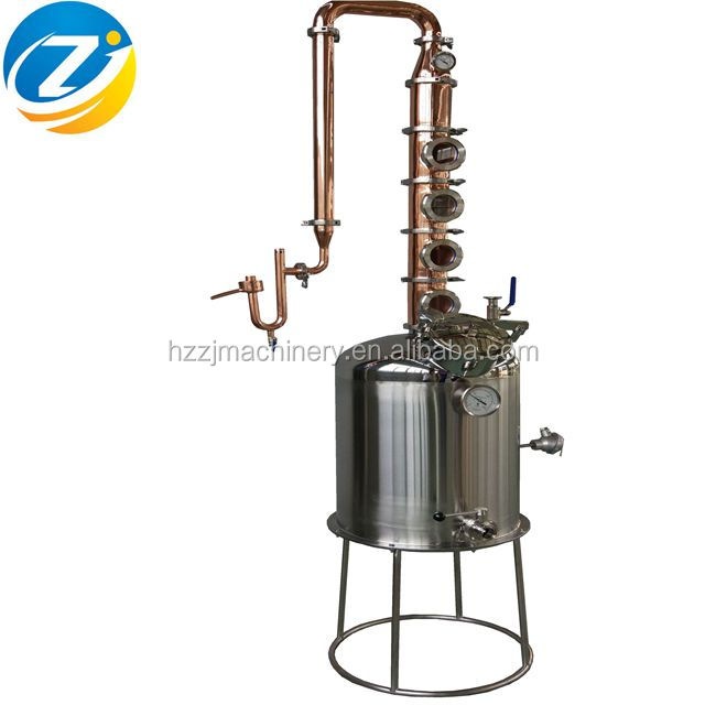 50l milk can moonshine still home alcohol distiller with 4 copper plates