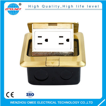 American Type Receptacle Box Socket Floor Mounted Electrical Outlets