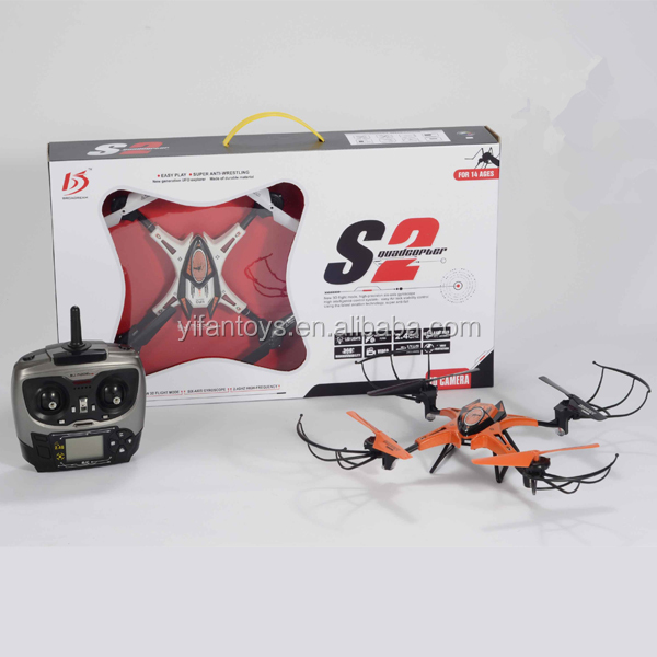 Newest Smart S2 Nano Drone Kit 2.4GHz 4CH 4 Axis Gyro Professional Mnin RC Propel Quadcopter UFO with LCD Screen Controller
