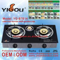 YG-B7014 small kitchen appliances stove with 2 3 4 5 6 burners portable gas stove with cylinder