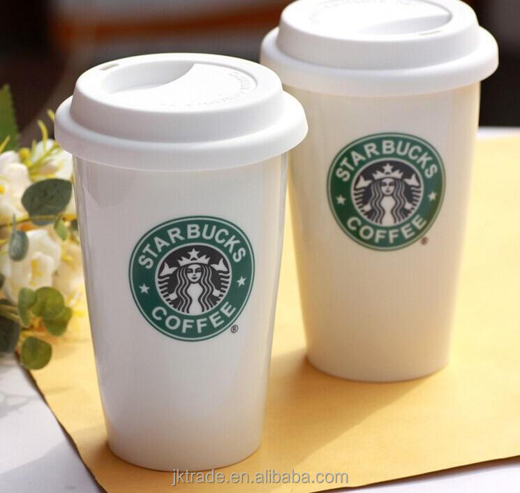 Starbucks Ceramic Travel Coffee Mug Tumbler With Silicone