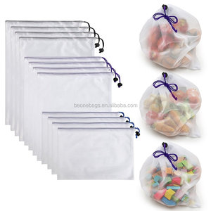 Mesh Eco Produce Bags Washable Mesh Storage Bags for Fruit and Vegetables