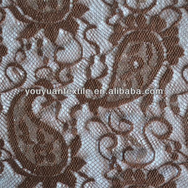 The best-selling products in Italy Nylon elastic embroidery lace fabric for selling