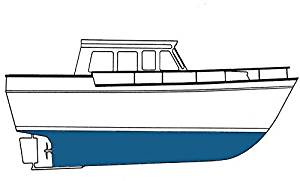 Blue Water Marine Paint - AQUA SHIELD; WATER BASE ABLATIVE - Blue Gal - 8651-G