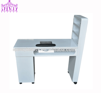 Double Nail Table/portable Manicure Table Nail Station With Dust Fan ...