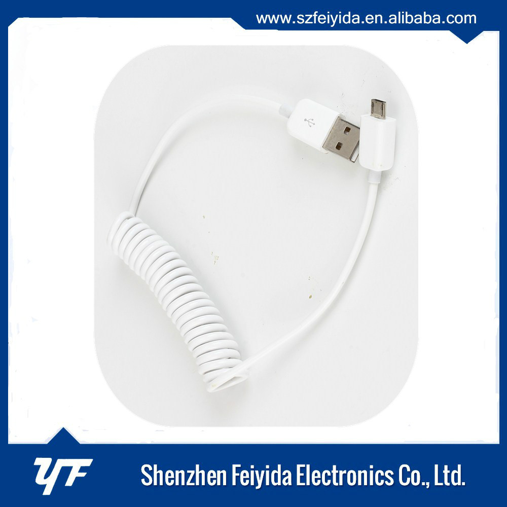 Stretching usb data charger Flexible Round Micro cable for Android on promotion