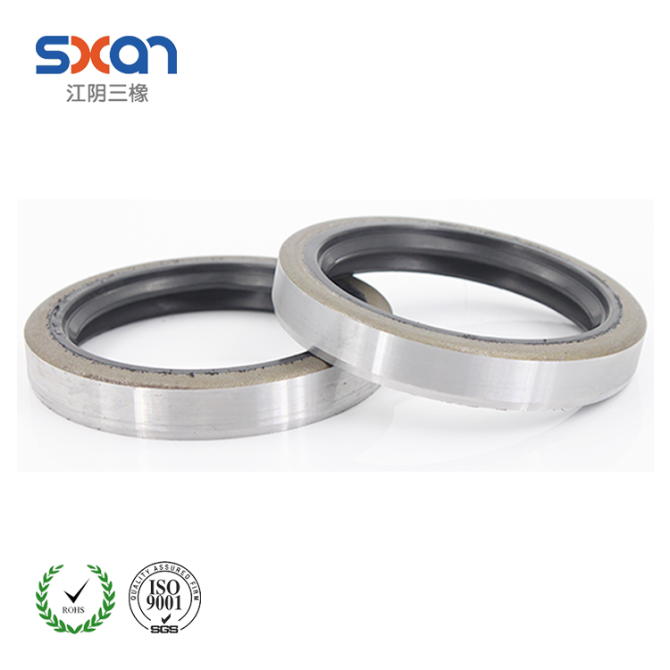 finely processed fluoro rubber double lip skeleton oil seal