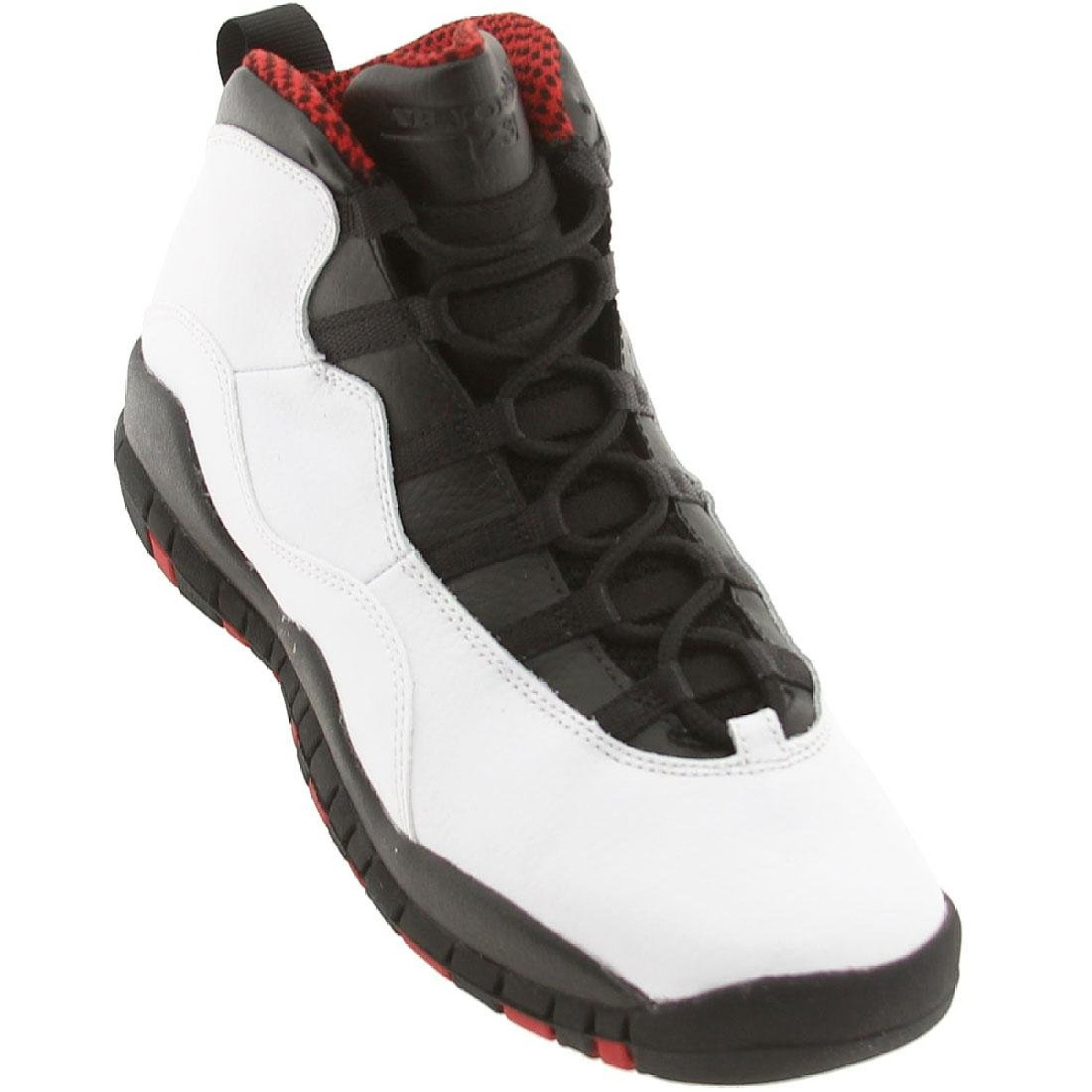 "Nike Boys Air Jordan 10 Retro (GS) ""Chicago"" Leather Basketball Shoes"