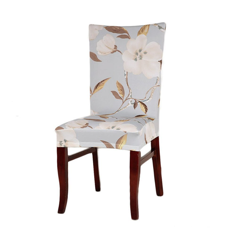 Get Quotations · Yunt Stretch Chair Seat Cover Removable Washable For Hotel  Dining Room Ceremony Stool Chair Slipcovers(