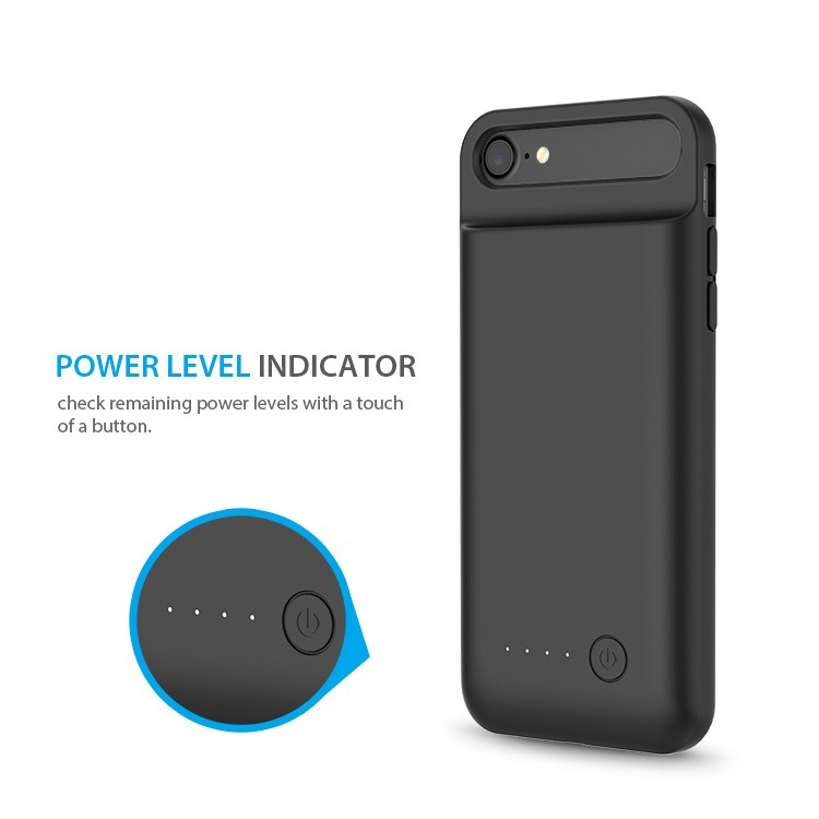 TPU soft rubber flexible top rechargeable smart battery case for iPhone 7