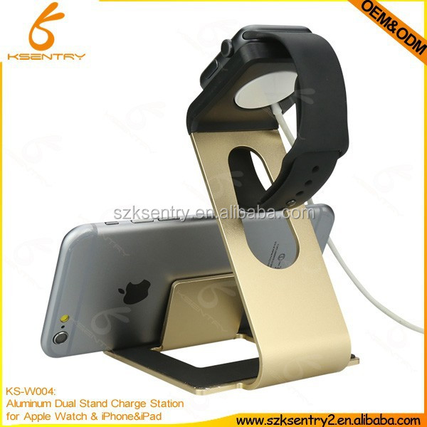 Factory manufacture OEM/ODM Aluminum Ally Stand holder for Apple Watch stand and holder for mobile phones
