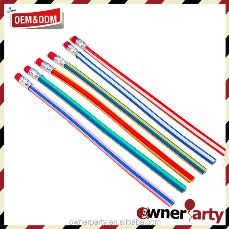 Good quality recycled educational flexible color pencil