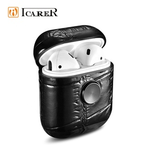 Fashion Fidget Spinner Real Leather Wireless Headphone Packaging Case for Airpod Earphone