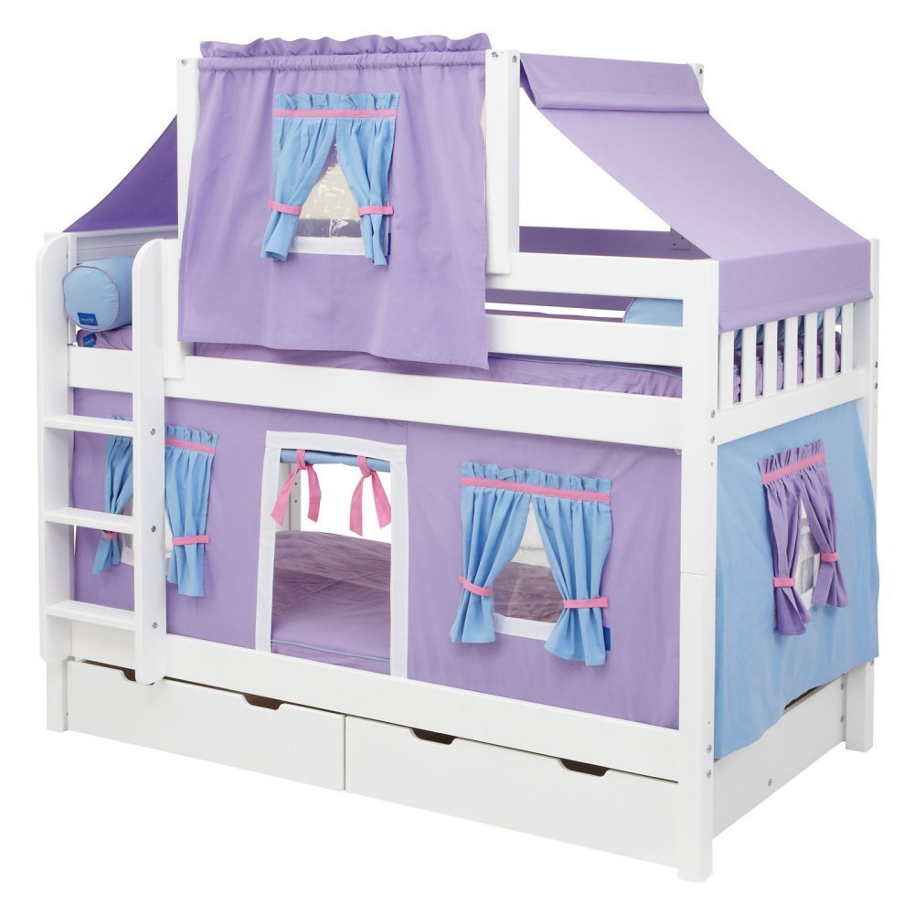 Hot Shot Girl Twin over Twin Deluxe Tent Bunk Bed
