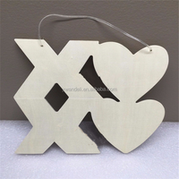 Valentine's Day Love Heart XOXO Wood Hanging Decoration