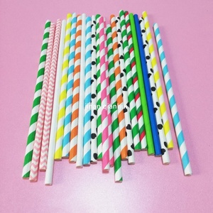 Mixed 25Pcs/Pack Eco-Friendly Paper Drinking Straw