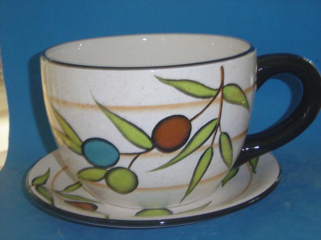 Ceramic Cup And Saucer Planter