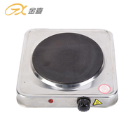 JX-6122AS 1000W Flat Toughened Home Appliances Stainless Steel Electric Single Burner Hot Plate Top Gas Stove