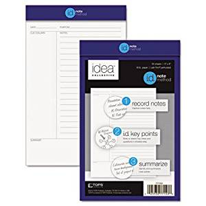 "Cornell Note Taking System Legal Pad [Set of 3] Size: 11"" H x 8.5"" W"