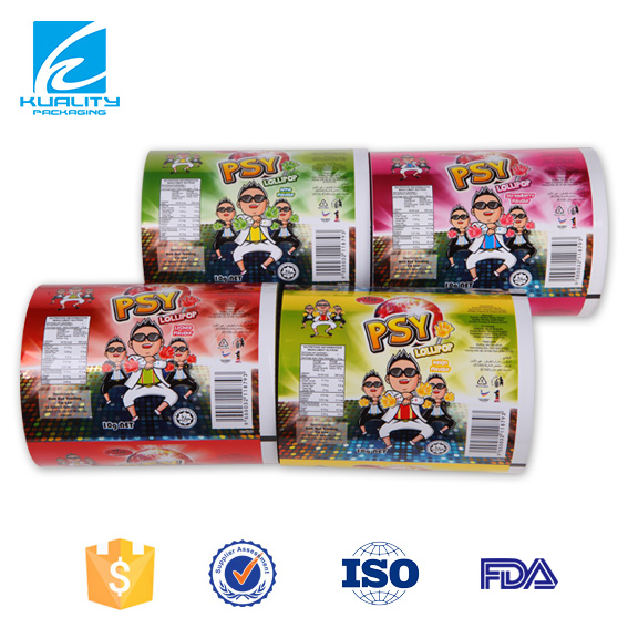 PVC Print and Lamination twist films sugar package